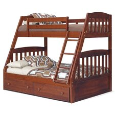 <strong>Chelsea Home</strong> Twin over Full Standard Bunk Bed with Underbed Storage