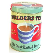 Coffee Break Builders Tea Storage Tin
