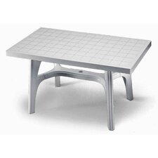Rettango Rectangular Plastic Dining Table