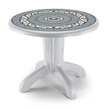 Daytona Round Iron Tile Dining Table