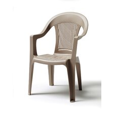 High Back Stacking Arm Chair