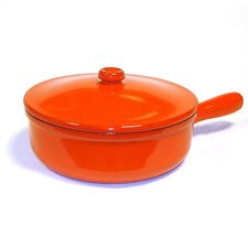 Terracotta Saucier with Lid