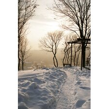 Pathway Through Snow Wall Art - 60cm x 90cm