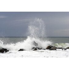 Waves Crashing into Rocks Wall Art - 60cm x 90cm