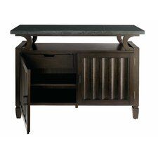 Voyage Media Chest with Blue Stone Top