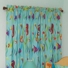 Tropical Seas Cotton Rod Pocket Curtain Panels (Set of 2)