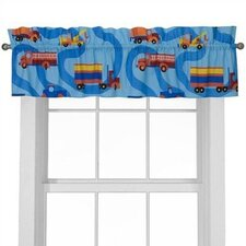 Boys Like Trucks Cotton Curtain Valance
