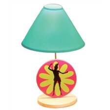 """Flower Power 18"""" H Table Lamp with Empire Shade"""