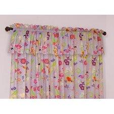 Magic Garden Cotton Rod Pocket Curtain Panels (Set of 2)