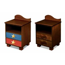 Star Rocket 2 Drawer Nightstand