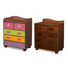 <strong>Room Magic</strong> Little Girl Teaset 5-Drawer Chest