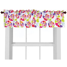 Heart Throb Cotton Rod Pocket Tailored Curtain Valance