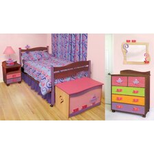 <strong>Room Magic</strong> Girl Teaset Twin Slat Bedroom Collection