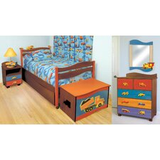 <strong>Room Magic</strong> Boys Like Trucks Twin Slat Bedroom Collection