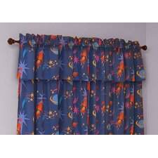 Star Rocket Cotton Rod Pocket Curtain Panel (Set of 2)