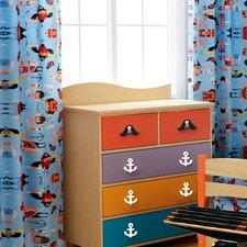 Pirate Pals Cotton Rod Pocket Curtain Panels (Set of 2)