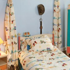 <strong>Room Magic</strong> Cowboy Cotton Curtain Panel (Set of 2)