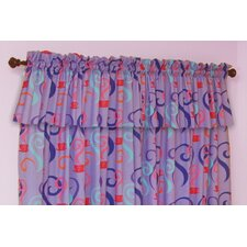 Little Girl Tea Set Cotton Curtain Valance
