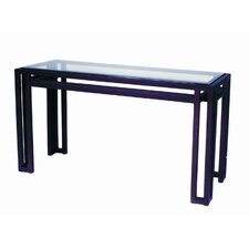 Paulette Glass Top Console Table