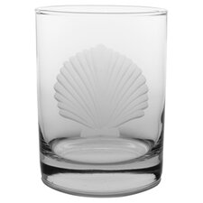 Seashell Double Old Fashioned Glass (Set of 4)