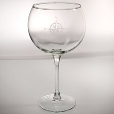 Compass Rose 19 Oz Balloon Glass (Set of 4)