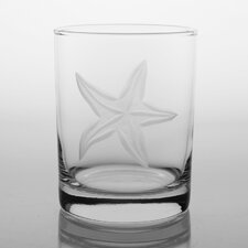 Starfish 14 Oz DOF Glass (Set of 4)