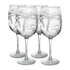 Palm Tree Dessert Wine Glass (Set of 4)