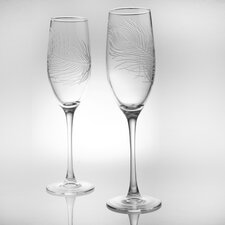 <strong>Rolf Glass</strong> Peacock Flute Glass (Set of 4)