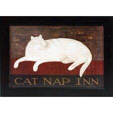 Cat Nap Inn Framed Graphic Art