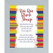 Baa Baa Black Sheep Framed Textual Art