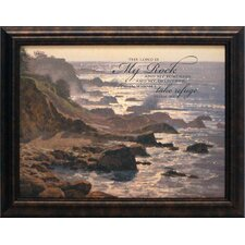 The Lord Is My Rock Framed Painting Print