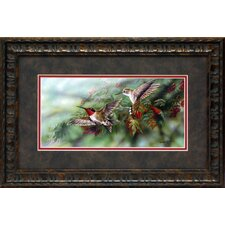 Ruby Throated Hummingbird Framed Art