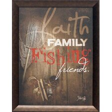 Faith Family Fishing Framed Graphic Art