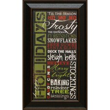 <strong>Artistic Reflections</strong> Happy Holidays Framed Art