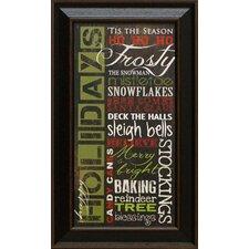 Happy Holidays Framed Textual Art