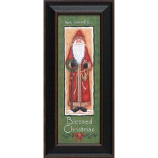 Blessed Christmas Framed Graphic Art