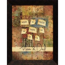 Mom and Dad Framed Textual Art