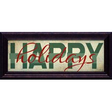 Happy Holidays Framed Textual Art