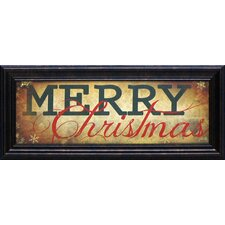 Merry Christmas Framed Textual Art