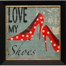 Love My Shoes Framed Art