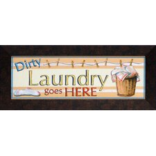 Dirty Laundry Framed Textual Art