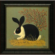 <strong>Artistic Reflections</strong> Red Berry Bunny Framed Art