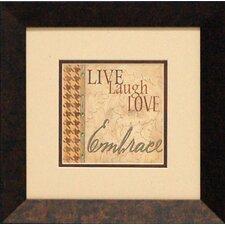Embrace Framed Textual Art