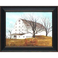 Done Raking Framed Painting Print