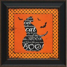 Halloween Cat Framed Graphic Art