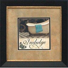 Indulge Framed Graphic Art