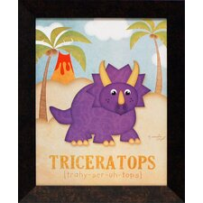 <strong>Artistic Reflections</strong> Triceratops Framed Art