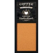 """Coffee Understands 2' 8"""" x 1' 2"""" Bulletin Board"""