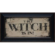 The Witch Framed Textual Art