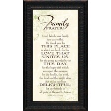 Family Prayer Framed Textual Art